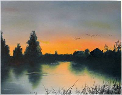 Migration At Dawn Art Print by Kenneth McGarity