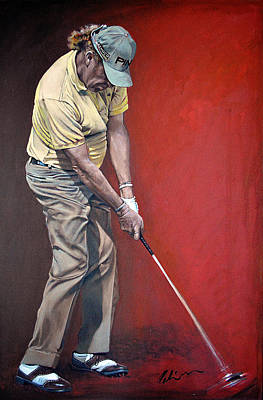 Painting - Miguel Angel Jimenez by Mark Robinson