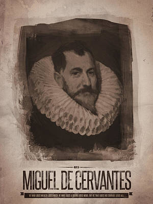Quote Digital Art - Miguel De Cervantes by Afterdarkness