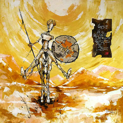 Don Quijote Painting - Miguel De Cervantes by Brasil Goulart