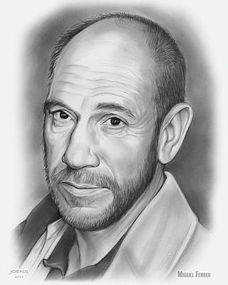 Drawings Rights Managed Images - Miguel Jose Ferrer Royalty-Free Image by Greg Joens