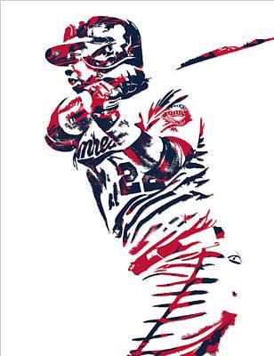 Miguel Sano Minnesota Twins Pixel Art 2 Art Print