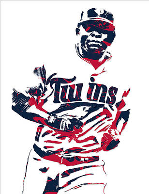 Mixed Media - Miguel Sano Minnesota Twins Pixel Art 3 by Joe Hamilton