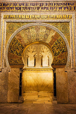 Byzantine Photograph - Mihrab In The Great Mosque Of Cordoba by Artur Bogacki