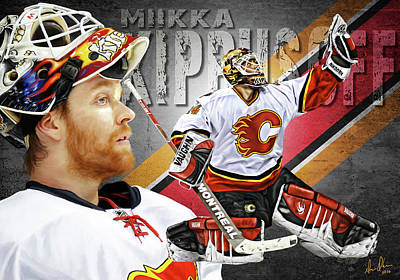 Photograph - Miikka Kiprusoff by Don Olea