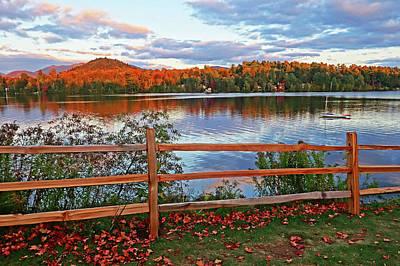Photograph - Miiror Lake Lake Placid Upstate New York Ny Adirondacks Autumn by Toby McGuire
