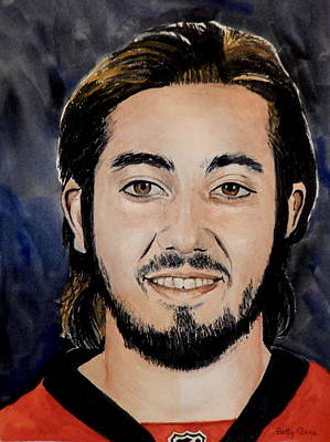 Painting - Mika Zibanejad by Betty-Anne McDonald