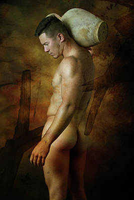 Nude Digital Art - Mike 5 by Mark Ashkenazi