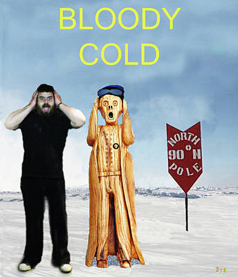 Petra Mixed Media - Mike Bloody Cold by Eric Kempson