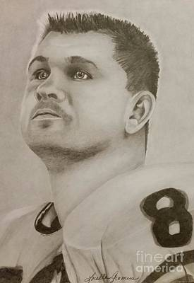 Drawing - Mike Ditka by Lorelle Gromus