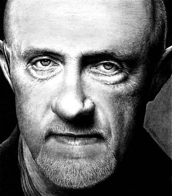 Drawing - Mike Ehrmantraut by Rick Fortson