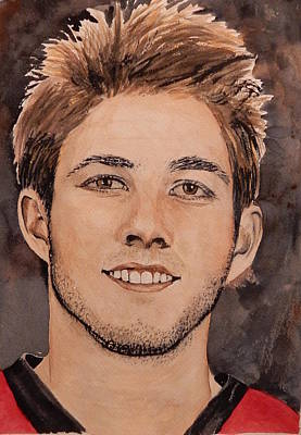 Painting - Mike Hoffman by Betty-Anne McDonald