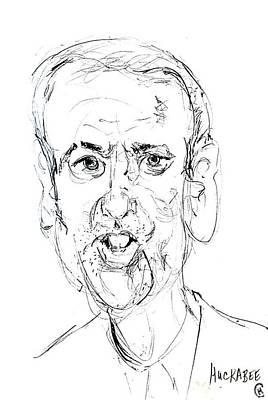 Caricature Drawing - Mike Huckabee by Cameron Hampton PSA