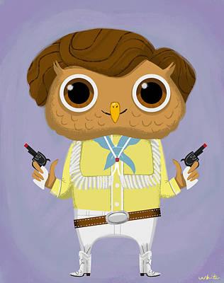 Wonka Digital Art - Mike Teevee Owl by Brian White