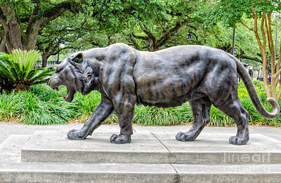 Photograph - Mike The Tiger Statue Lsu by Kathleen K Parker