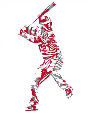 Mixed Media - Mike Trout Los Angeles Angels Pixel Art 11 by Joe Hamilton