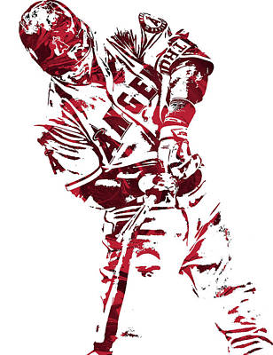 Mike Trout Los Angeles Angels Pixel Art 5 Art Print