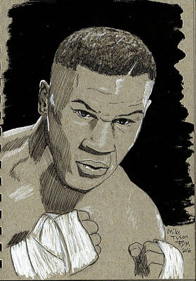 Drawing - Mike Tyson by Frank Middleton