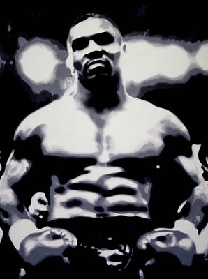 Knockout Painting - Mike Tyson by Luis Ludzska