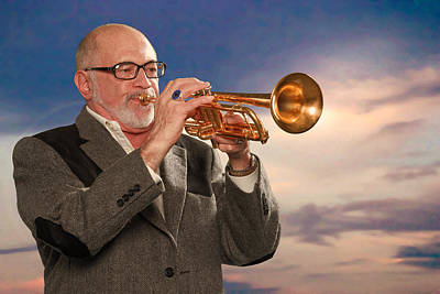 Photograph - Mike Vax Professional Trumpet Player Photographic Print 3765.02 by M K Miller