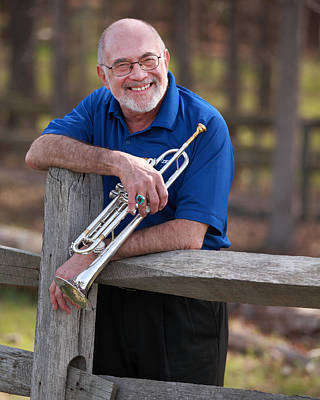 Photograph - Mike Vax Professional Trumpet Player Photographic Print 3766.02 by M K Miller