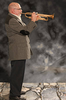 Photograph - Mike Vax Professional Trumpet Player Photographic Print 3775.02 by M K Miller