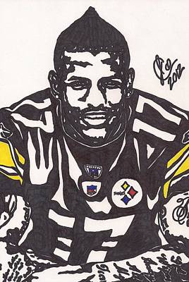 Nfl Player Drawings Drawing - Mike Wallace 1 by Jeremiah Colley