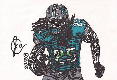 Detroit Lions Drawing - Mikel Leshore by Jeremiah Colley