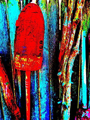 Photograph - Mike's Art Fence 198 by George Ramos