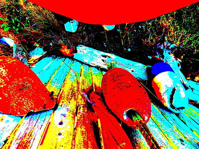 Photograph - Mike's Art Fence 206 by George Ramos