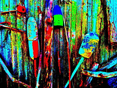 Photograph - Mike's Art Fence 211 by George Ramos