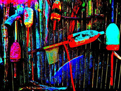 Photograph - Mike's Art Fence 214 by George Ramos