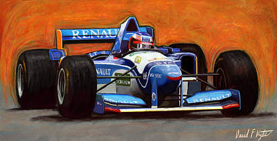 F-1 Digital Art - Mikes Benetton by David Kyte