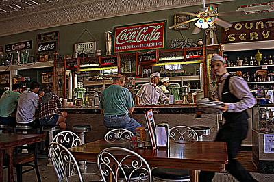 Photograph - Mikes On Main Hendersonville Nc Soda Fountain And Lunch by Kathy Barney
