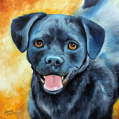 Puggle Painting - Mikey by Marcia Baldwin