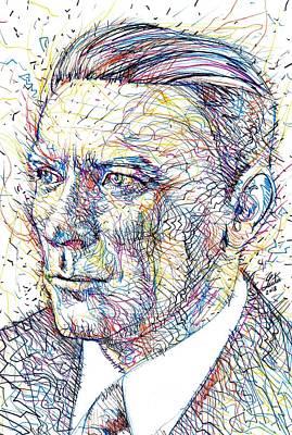 Painting - Mikhail Bulgakov Portrait.3 by Fabrizio Cassetta