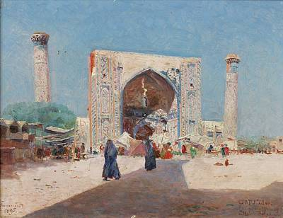 Madrasa Painting - Mikhail Nicolaevitch Belaevsky by Eastern Accent