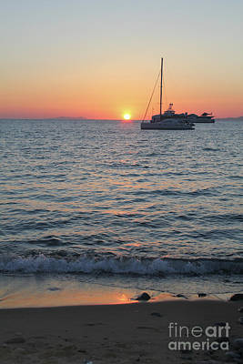 Photograph - Mikonos Beach Sunset by Donna Munro