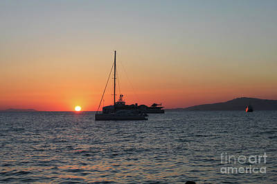 Photograph - Mikonos Sunset by Donna Munro