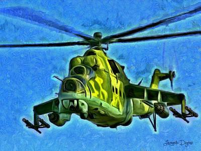 Sean Rights Managed Images - Mil Mi 25 Royalty-Free Image by Leonardo Digenio