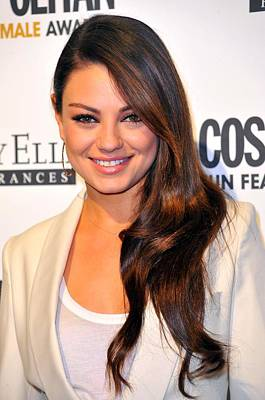 Bestofredcarpet Photograph - Mila Kunis At Arrivals For Cosmopolitan by Everett