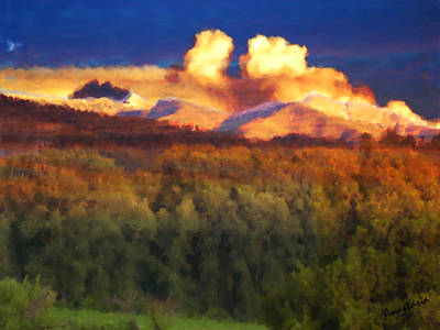 Painting - Milagro Cloud Theater Over Truchas Peaks Nm by Anastasia Savage Ealy