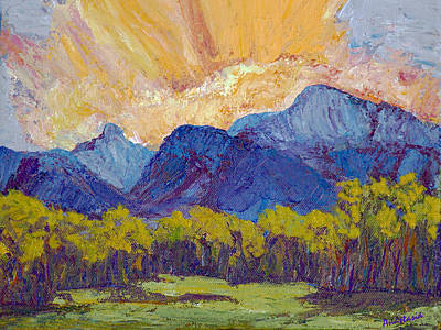 Painting - Milagro Clouds Late Summer Over Truchas Peaks by Anastasia Savage Ealy