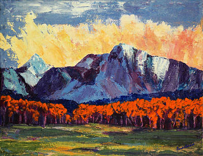 Painting - Milagro Clouds Over Truchas Peaks  Early Autumn I by Anastasia Savage Ealy