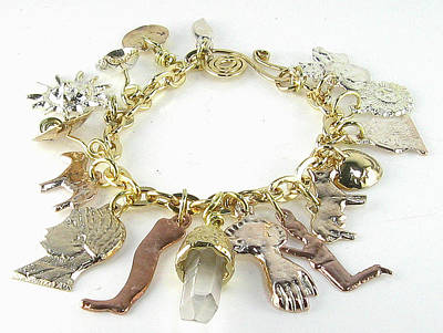 Esprit Mystique Jewelry - Milagro Crystal Charm Bracelet by Vagabond Folk Art - Virginia Vivier