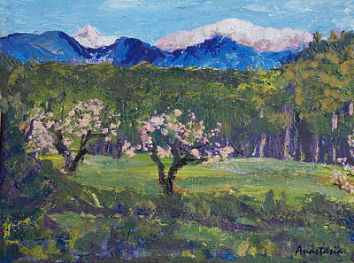 Painting - Milagro Spring El Valle Somewhere Off The High Road by Anastasia Savage Ealy