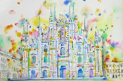 Painting - Milan Cathedral - Duomo by Fabrizio Cassetta