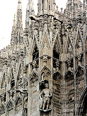 Photograph - Milan Cathedral, Italy - Closeup Details by Merton Allen