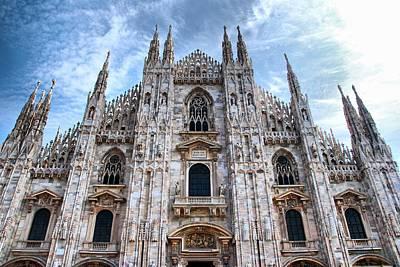 Landmark Digital Art - Milan Cathedral by Super Lovely
