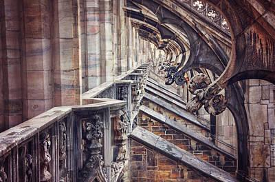 Milan Wall Art - Photograph - Milan Duomo In Detail  by Carol Japp